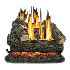 "Kozy World GLV024 Vented 24"" Natural Gas Legacy Oak Log Set 55,000 BTUs"