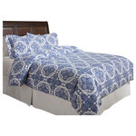 Pointehaven - Poinetehaven 200 GSM Duvet Set, Alpine Blue, King /Cal King - Stay warm and cozy all night long with this 200 GSM / 6 oz flannel duvet cover set. Ultra-soft, superior heavy weight flannel takes this set to next level. Available in several colors, patterns, and a variety of sizes, this machine-washable set will match any bedroom decor and is perfect for everyday use.