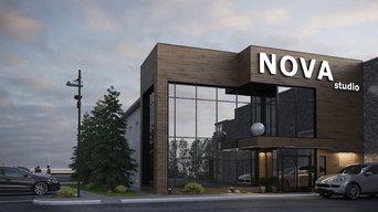Дизайн проект фасада здания дизайн студии NOVA