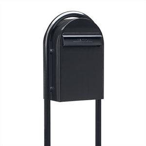 Black Large Cylindrical Milan Lockable Outdoor Metal /'/' Mailbox Post Box /'/'