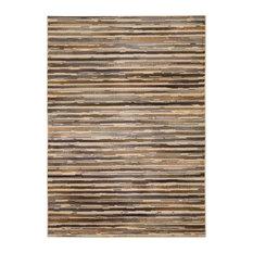 "Striped Beige Rug, 3'11""x5'10"", Paramount PAR15 by Nourison Rugs"