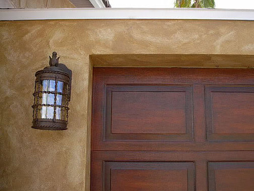 How To Faux Paint Garage Doors To Look Like Wood Faux Wood Garage
