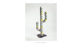 Cactus sculpture en mosaique
