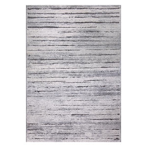 Woodland WH-2870-095 Rug, Grey and Silver, 80x150 Cm