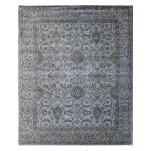 8x10 Gray Overdyed Rug Contemporary Area Rugs By