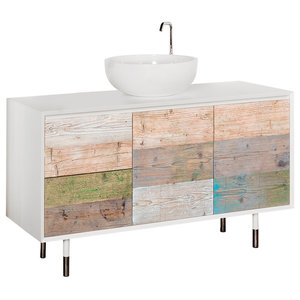Bianchini & Capponi Materia Reclaimed Wood Vanity Unit, 140 cm