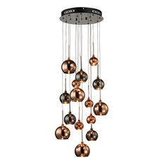 Dimond Lighting Nexion - Fifteen Light 10W Chandelier, Black Chrome Finish
