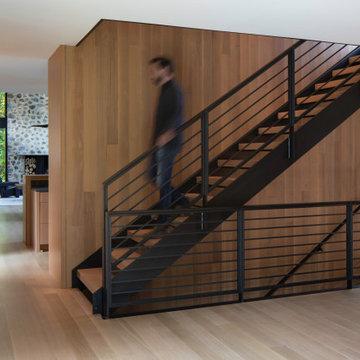 Modern Northwoods Residence Stair