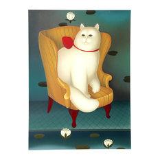 Igor Galanin, Cat in Chair, Serigraph