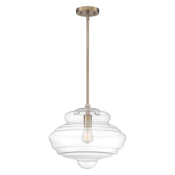 Nuvo Lighting 60/6768 Storrier Pendant Light In Burnished Brass / Clea