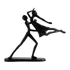 Elur Dancing Couple in Lift Iron Figurine