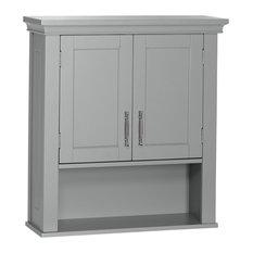 Riverridge Home Somerset Collection 2 Door Wall Cabinet Gray