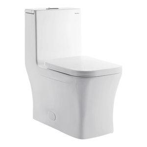 Concorde One-Piece Square Elongated Toilet, Dual Flush, 0.8/1.28 g