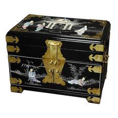 Daisi Jewelry Box With Mirror, Black