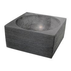 Pantheon Small Concrete Bathroom Sink, Anthracite, Textured, 30 cm