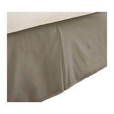 Becky Cameron Premium Ultra Soft Bed Skirt Dust Ruffle, Taupe, Twin