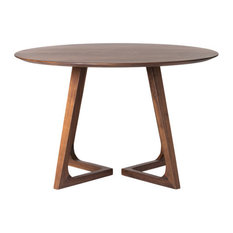 Godenza Dining Table Round, Walnut