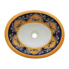 Mexican Talavera Sink , Hand Painted, Ceramic