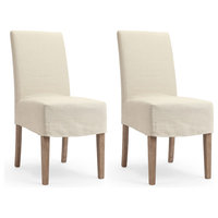 Glendale Dining Chairs With Slipcover, Set of 2