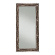 Antique Farmhouse Full Length Leaner Mirror, Black
