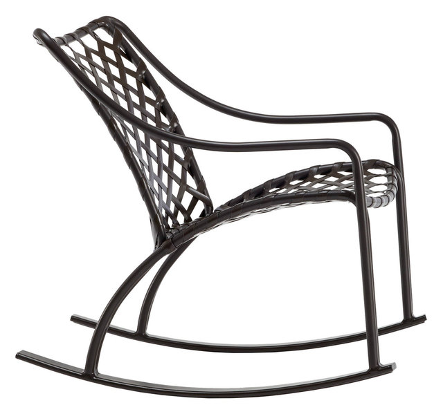Charmant Sidmouth Vinyl Lace Rocking Chair, Night Strap, Red