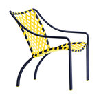 tamiami lounge chair vinyl lace yellow strap hot pink finish