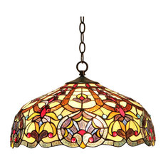 Ch33473iv18-Dh2 Sadie Tiffany-Style 2 Light Victorian Ceiling Pendant Fixture