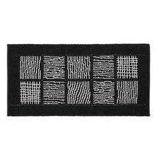Savana Bath Mat, Black, 65x140 cm