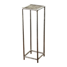 Wonderful Interlude   Interlude Home Araby Silver Drink Table   Side Tables And End  Tables