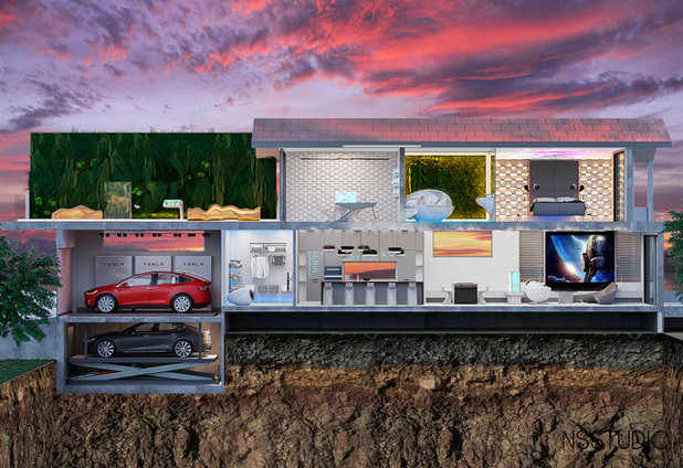The House of the Future Exterior Cross Section