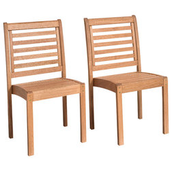 Transitional Outdoor Dining Chairs by Homesquare