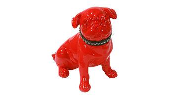 Carlin Modern Pug Ornament, Red