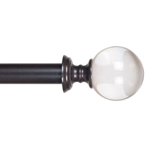 Dorset Nickel Single Rod Traditional Curtain Rods By
