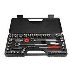 Stalwart 52-Piece Drive Socket Set and Metric