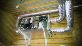 Вентиляция и VRV-кондиционирование деревянного дома (Часцы)