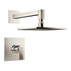 Jacuzzi MX838 Mincio™ Shower Trim Package with Rain Shower Head with Rough-In V