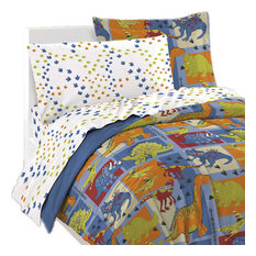 chf industries inc dinosaur bedding set blue dino blocks bed twin kids bedding