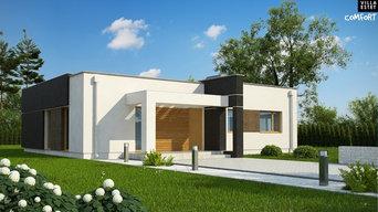 Comfort 105B. Элегантный, практичный и экономичный дом в стиле хай-тек.
