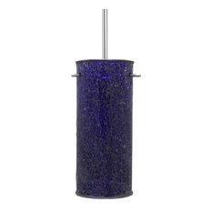 linea di liara nicola cylindrical 1 light stem hung pendant lamp ultra cobalt blue pendant lighting