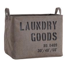 Danya B - Danya B. Army Canvas Laundry Basket - Hampers