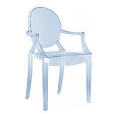 Louis Ghost Chair, Set of 2, Transparent Ice Blue