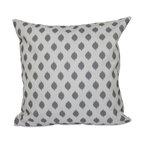 "Cop-Ikat Geometric Print Pillow, Classic Gray, 20""x20"""