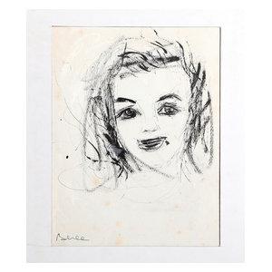 "Dimitrie Berea ""Portrait Of Woman, 6"" Ink Drawing"