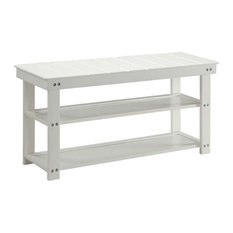 Pemberly Row Entryway Bench in White