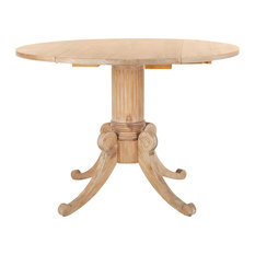 Safavieh Forest Drop Leaf Dining Table, Rustic Natural