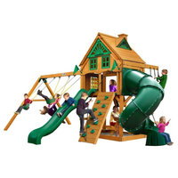 Mountaineer Treehouse Swing Set With Fort Add-On and Amber Posts