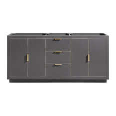 "Avanity Austen 72"" Vanity Only, Twilight Gray With Gold Trim"
