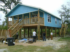 Building a new house on pilings