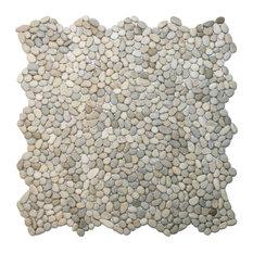 """12""""x12"""" Mini Java Tan Pebble Tile"""
