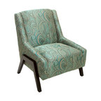 Coaster Geometric Pattern Accent Chair Blue And Green